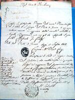 1831 DOCUMENTO DA PORTO SAN GIORGIO (FERMO) SU QUALITA' MORALI DI UN CITTADINO