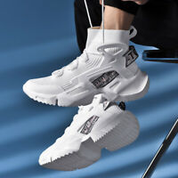 Men's High Top Shoes Outdoor Sports Walking Athletic Sneakers Jogging Tennis Gym
