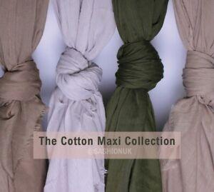 Cotton Maxi Hijab Headscarf Summer Lightweight Shawl Scarf High Quality
