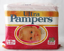 RARE VINTAGE 80'S ULTRA PAMPERS GIRL 8-18kg 18-40lbs MAXI DIAPERS NEW SEALED !