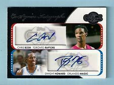 CHRIS BOSH DWIGHT HOWARD 2008/09 TOPPS CO-SIGNERS DUAL AUTOGRAPH AUTO /7