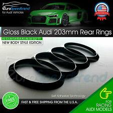AUDI Rings Rear Gloss Black 203mm Trunk Lid Emblem Badge Logo A4 S4 S6 A6 Q3 Q5