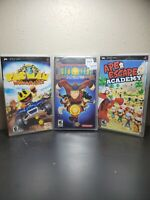 Lot of 3 Sony PSP Games (Pacman World Rally, Ape Escape Academy, Xia Lin)