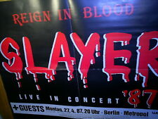 SLAYER - REIGN IN BLOOD LIVE 1987 - POSTER im Format 46 cm x 59 cm THRASH METAL