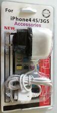 Iphone 4 4S / 3GS Accessories charger Bundle Joblot wholesale EU socket