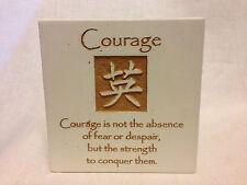 Courage STONE PLAQUE