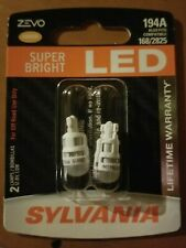 Sylvania ZEVO LED Light 194A Amber Two Bulbs License Plate Side/Brand New/Sealed