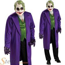 Mens Joker Fancy Dress Costume Batman Heath Ledger Halloween Adult Outfit