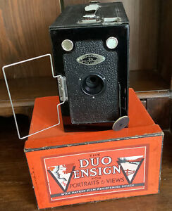Vintage The Duo Ensign Boxed Camera For Portraits & Views Houghton-Butcher