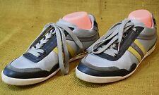 Hugo Boss Orange Katio Men's Sneaker Shoes - Gray Leather 50238181 Sz EU 41 US 8