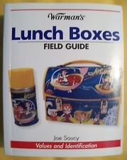 ANTIQUE LUNCH BOX PRICE GUIDE BOOK Metal with Thermos bottles All Color Pics $$