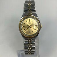 Timex Womens Vintage BA Cell Silver Tone Bracelet Date Quartz Analog Watch