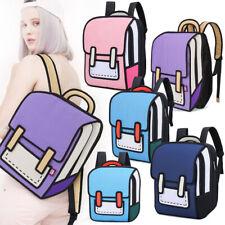 Jump Style 2D Drawing From Cartoon Paper Shoulder Bag Comic Backpack Bookbag