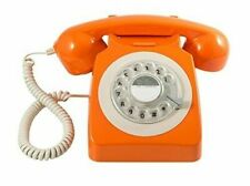 GPO 746 Rotary 1970s-style Retro Landline Phone - Curly Cord Authentic Bell
