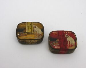 Vintage Gramophone Needles and Tin His Master's Voice Loud Tone & Half tone