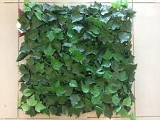"16 ARTIFICIAL IN/OUTDOOR UV Englsh Ivy = 40x40"" MAT PATIO HEDGE GRASS FAKE FENCE"