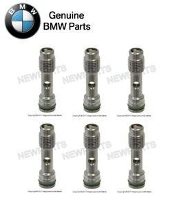 For BMW E60 E63 745i Set of 6 Cylinder Head Oil Check Valves w/ O-Rings Genuine