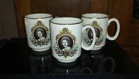 Queen Elizabeth II Silver Jubilee Mug, Lord Nelson Pottery - LOT of 3