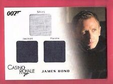 JAMES BOND DANIEL CRAIG WORN SHIRT PANTS JACKET RELIC SWATCH CARD CASINO ROYALE