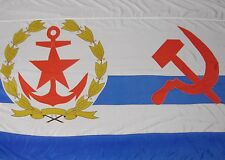 Soviet Navy Flag Ussr Armed Forces Chief Of Staff 1985 Super Rare Huge 6.5' x 4'