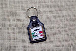 Fiat Croma Keyring - Leatherette & Chrome Keytag