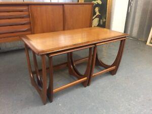 G Plan Mid Century Danish E Gomme Teak Coffee Nest of Tables Vintage Retro M4183