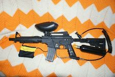 Tippmann US Army Alpha Black Elite Paintball Marker W/Extras No Reserve