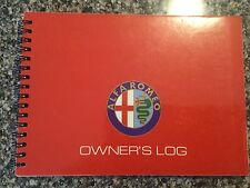 Alfa Romeo SPIDER 1991 owners log book