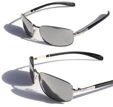 XS PRO Metal frame Polarized sunglasses silver Mirror Lens fishing anti-glare ..