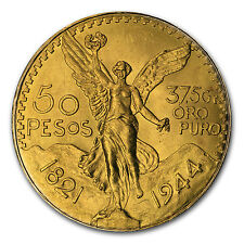 1944 Mexico Gold 50 Pesos BU - SKU #64154