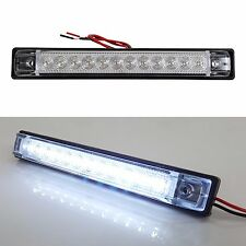 """2 PACK 6""""x1"""" WHITE LED SLIM LINE LED UTILITY STRIP LIGHTS 12 LEDS RV BOAT"""