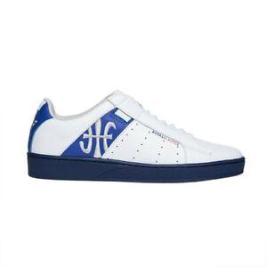 NEW Men's Royal Elastics ICON GENESIS White Blue Leather Sneakers 01902-058