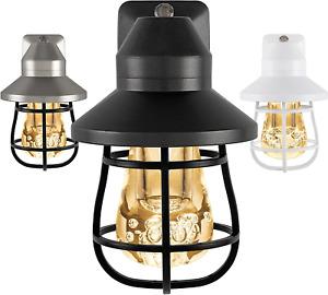 Heavy Duty Vintage LED Night Light Plug In Dusk-To-Dawn Sensor Farmhouse Rustic