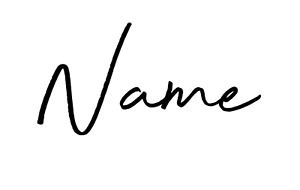 Large Name Only Vinyl Decal Sticker 20cm max Ideal for Balloons/Gift Boxes