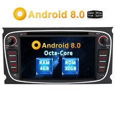 "7"" Android 8.0 4K Autoradio 4GB RAM DVD GPS OBD2 DAB WIFI Für FORD Focus Mondeo"