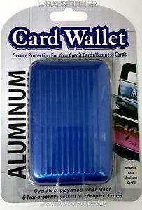 Aluminum Wallets Business ID Credit Card Holder Pocket Case