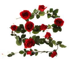 Premium Rose Wedding Decoration Favor 180cm Large Artificial Flowers Red