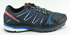 MENS SALOMON XR CROSSMAX 1 HIKING TRAIL RUNNING SHOES GRAY BLACK BLUE SIZE 9.5