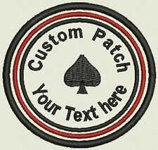 "Custom Round Patch Patch, Badge, Tag, 3.5"" - Add text - Iron On, or Sew On,"