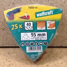 Wolfcraft 25 Haft- Schleifblätter Multischleifer K 40  1850100