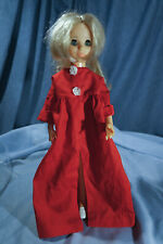 1960s Ideal Crissy Family Friends Doll Outfit Untagged Red Robe Housecoat