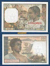 COMORES MADAGASCAR - 100 Francs 1960 - 1963 NEUF V.2967