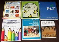 Lot of 6 Homeschool Teacher Aids, Constructive Activity Books + Math book