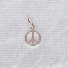 24mm dia 10 x PEACE // CND CHARMS SILVER TONE SAME DAY FREE POSTAGE