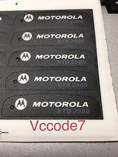 Motorola Xts2500 Front Name Plate Label