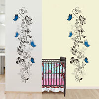 Butterfly Vine Flower Art Vinyl Wall Stickers Decal Mural Home Decor Removable
