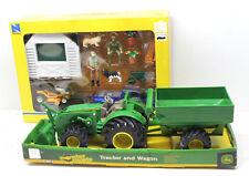 2 pc 2013 Cub Cadet Pikckup +Farm Mower+Ertl Plastic John Deer Tractor+Wagon