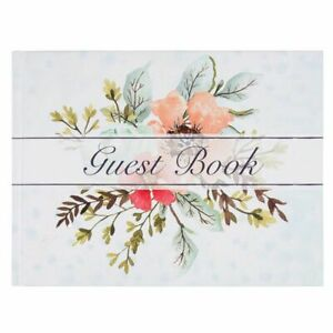 """Sustainable Greetings Guest Book for Wedding Baby Shower Party, Floral, 8"""" x 6"""""""