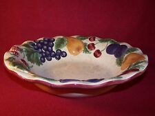 """Noble Excellence ~ Napa Valley ~ Beautiful Large Round Embossed Serving Bowl 13"""""""