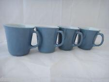 4 Steel Blue D handle Pyrex Corning Corelle Coffee mugs mug cups vintage 60s 70s